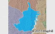 Political Map of Bimbilla, semi-desaturated