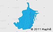 Political Map of Bimbilla, single color outside
