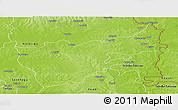 Physical Panoramic Map of Gushiegu-Chereponi