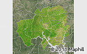 Satellite Map of Northern, semi-desaturated
