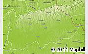 Physical Map of Nalerigu