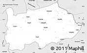 Silver Style Simple Map of Nalerigu