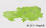 Physical Panoramic Map of Northern, cropped outside