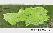 Physical Panoramic Map of Northern, darken