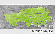 Physical Panoramic Map of Northern, desaturated