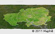 Satellite Panoramic Map of Northern, darken