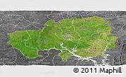Satellite Panoramic Map of Northern, desaturated
