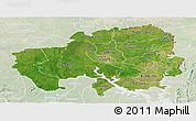 Satellite Panoramic Map of Northern, lighten