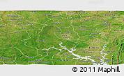 Satellite Panoramic Map of Northern