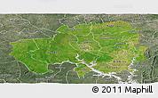 Satellite Panoramic Map of Northern, semi-desaturated