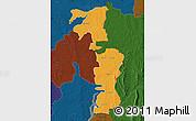 Political Map of Saboba-Zabzugu, darken