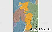 Political Map of Saboba-Zabzugu, semi-desaturated