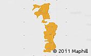Political Map of Saboba-Zabzugu, single color outside