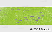 Physical Panoramic Map of Tolon
