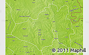 Physical Map of Yendi