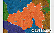 Political Map of Yendi, darken