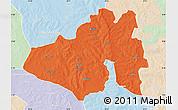 Political Map of Yendi, lighten