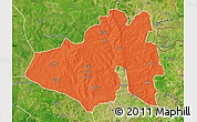 Political Map of Yendi, satellite outside