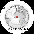 Outline Map of Yendi