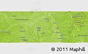 Physical Panoramic Map of Yendi
