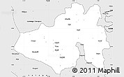 Silver Style Simple Map of Yendi