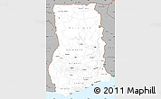 Gray Simple Map of Ghana
