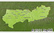 Physical 3D Map of Upper East, darken