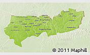 Physical 3D Map of Upper East, lighten