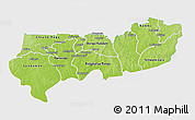 Physical 3D Map of Upper East, single color outside