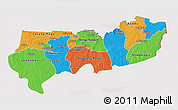 Political 3D Map of Upper East, cropped outside