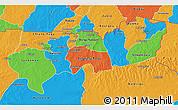 Political 3D Map of Upper East