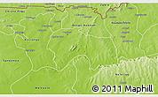 Physical 3D Map of Bolgatanga-Tongo
