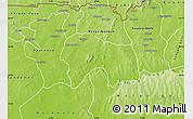 Physical Map of Bolgatanga-Tongo