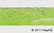 Physical Panoramic Map of Bolgatanga-Tongo
