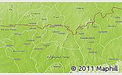 Physical 3D Map of Bongo-Nabdam