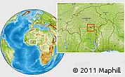 Physical Location Map of Bongo-Nabdam