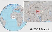 Gray Location Map of Chiana-Paga