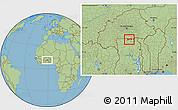 Savanna Style Location Map of Chiana-Paga