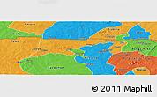 Political Panoramic Map of Chiana-Paga