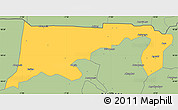 Savanna Style Simple Map of Chiana-Paga