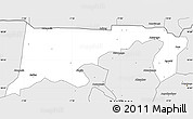Silver Style Simple Map of Chiana-Paga