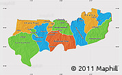 Political Map of Upper East, cropped outside