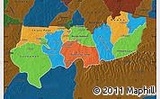 Political Map of Upper East, darken
