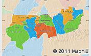 Political Map of Upper East, lighten