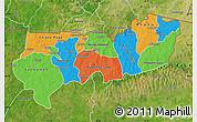 Political Map of Upper East, satellite outside