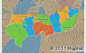 Political Map of Upper East, semi-desaturated