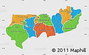 Political Map of Upper East, single color outside