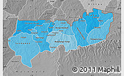 Political Shades Map of Upper East, desaturated