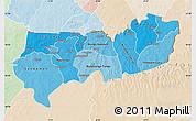 Political Shades Map of Upper East, lighten
