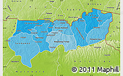 Political Shades Map of Upper East, physical outside